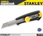 Stanley DYNAGRIP műanyagházas fémmegvezetéses tördelhetőpengés kés 18mm - szerszám