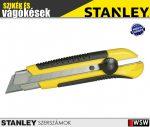 Stanley műanyagházas fémmegvezetéses tördelhetőpengés kés 25mm - szerszám