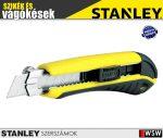 Stanley PROFI műanyagházas fémmegvezetéses tördelhető pengés kés 18mm - szerszám