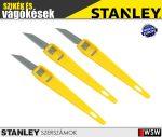Stanley műanyag nyelű dekor kés 3db-os  - szerszám