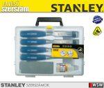 Stanley 4 részes véső készlet olaj+kő - szerszám
