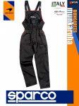Sparco DUNGAREES BLACK premium szerelő kantáros nadrág - munkaruha