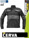 Cerva MAX NEO BLACK pamut 2in1 levehető ujjas technikai kabát - munkaruha