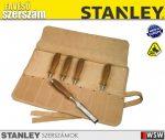 Stanley BAILEY 5 részes véső készlet bőrtokkal - szerszám