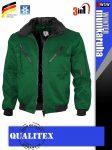 Qualitex PILOT GREEN 3in1 prémium bomber téli kabát - munkaruha