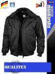 Qualitex PILOT BLACK 3in1 prémium vízálló bomber téli kabát - munkaruha