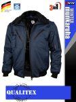 Qualitex PILOT NAVY 3in1 prémium vízálló bomber téli kabát - munkaruha