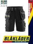Blåkläder CRAFTSMEN X1500 BLACK öko-textil technikai rövidnadrág - Blakleder munkaruha