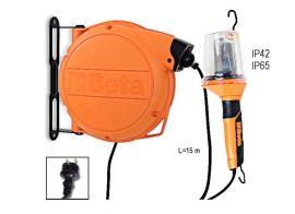 Automata kábeldob szerelőlámpával 230 Vac, E27 foglalat, izzó nélkül_1843WBM