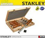 Stanley BAILEY 5 részes fadobozos véső készlet - szerszám