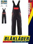 Blåkläder INDUSTRY BLACK-RED technikai ipari  kantárosnadrág - Blaklader munkaruha