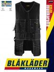 Blåkläder CRAFTSMEN X1500 BLACK pamut technikai munkamellény - Blakleder munkaruha
