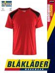 Blåkläder INDUSTRY RED-BLACK technikai pamut munkapóló - Blakleder munkaruha