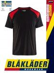Blåkläder INDUSTRY BLACK-RED technikai pamut munkapóló - Blakleder munkaruha