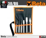 Beta szerszá - 6 kiütő, pontozó, laposvágó és keresztvágó készlet műanyag tasakban