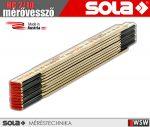 Sola HC 2/10 fa mérővessző zollstock 2 méter - szerszám