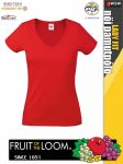 Fruit of the Loom Lady Fit valuweight v-neck T sport póló pólónagyker