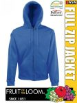 Fruit of the Loom HOODED JACKET férfi kardigán - pulóver