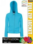 Fruit of the Loom Lady Fit HOODED JACKET kardigán - pulóver