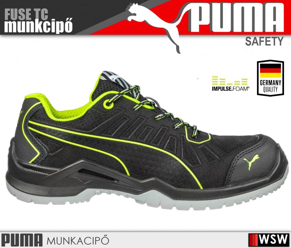 Puma FUSE TC GREEN S1P munkacipő - munkavédelmi cipő - munkaruha ... ae3ab8aeb0