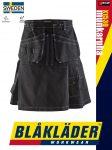 Blåkläder CRAFTSMEN X1500 BLACK pamut technikai sótszoknya kilt - Blakleder munkaruha