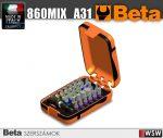 30 csavarhúzóbetét és mágneses gyorslazítású betéttartó, műanyag dobozban_860MIX_A31