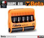 10 csavarhúzóbetét és mágneses betéttartó, műanyag dobozban_860PE_A10