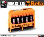 10 csavarhúzóbetét és mágneses betéttartó, műanyag dobozban_860RTX_A10