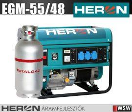 Heron EGM-55/48 AVR-1G benzinmotoros áramfejlesztő max 6800/5500 VA