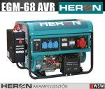 Heron EGM-68 AVR-1E benzinmotoros áramfejlesztő + HAE-3/1 inditóautomatika - 6500 VA