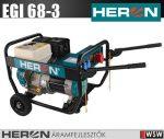 Heron EGI 68-3 benzinmotoros áramfejlesztő, 6800 VA - 400/230 V