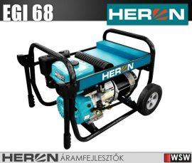 Heron EGI 68 benzinmotoros áramfejlesztő 6800 VA - 230V hordozható