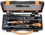 11 tizenkétszögű dugókulcs, 11 csavarhúzó-dugókulcs és 6 tartozék fémdobozban_900MB_C28