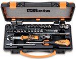 13 hatlapú dugókulcs, 11 csavarhúzó-dugókulcs és 6 tartozék fémdobozban_900_C24
