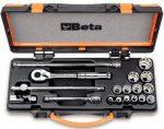 13 db-os inch-es dugókulcs készlet 5 tartozékkal, fémdobozban_910AS_MBM-C18