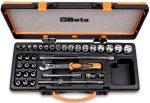 17 dugókulcs 12 csavarhúzó-dugókulcs és 5 tartozék fémdobozban_910A_C29