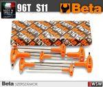 11 darabos T-szárú imbuszkulcs készlet műanyag markolattal, krómozot_96T_S11