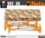 6 darabos T-szárú imbuszkulcs készlet műanyag markolattal, krómozott_96T_S6