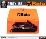8 darabos hajlított gömbfejű Torx® imbuszkulcs készlet műanyag tasakban_97BTX_B8