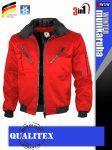 Qualitex PILOT RED 3in1 prémium bomber téli kabát - munkaruha