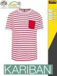 Kariban STRIPED férfi póló - munkapóló