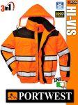 Portwest HI-VIS Classic jólláthatósági bélelt kabát - 3in1