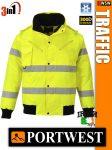 Portwest TRAFFIC jólláthatósági bomber kabát - 3in1