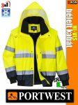 Portwest TRAFFIC 3in1 foszforeszkáló jólláthatósági bomber kabát - munkaruha