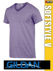Gildan Softstyle V-nyakú férfi póló
