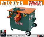 Triax PFTX betonacél vágó és hajlító kombi gép