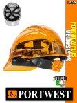 Portwest PEAK VIEW PLUS UV400 átlátszó szellőző munkavédelmi sisak - 7 éves védősisak