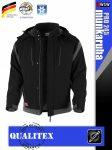 Qualitex PRO 245 BLACKGREY prémium téli bélelt softshell technikai kabát - munkaruha
