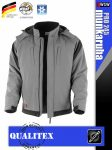 Qualitex PRO 245 ROYALBLACK prémium téli bélelt softshell technikai kabát - munkaruha