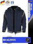 Qualitex PRO 245 GREENBLACK prémium téli bélelt softshell technikai kabát - munkaruha
